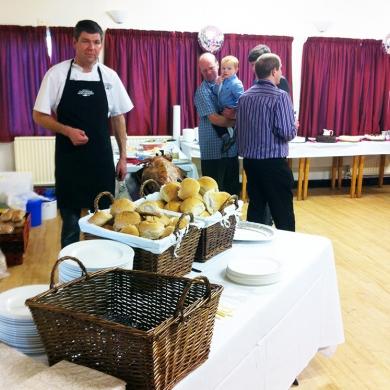 Hog Roast for christening in Tarporley