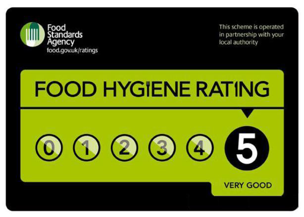 FSA Hygiene Rating 5, Very Good